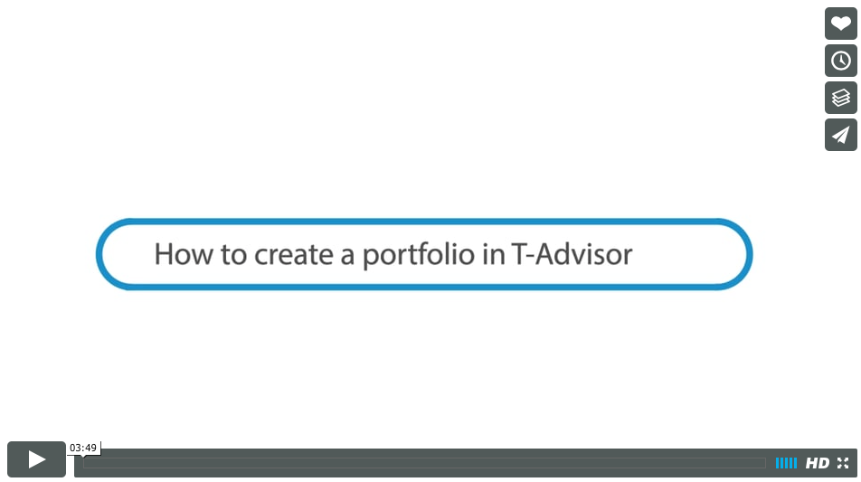 How to create a portfolio in T-Advisor