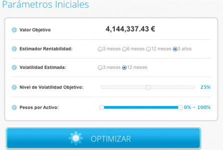 Optimizador de cartera de T-Advisor
