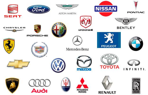 Marcas de fabricantes de coches