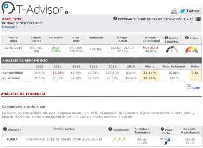 Datos principales de Adani Ports en T-Advisor