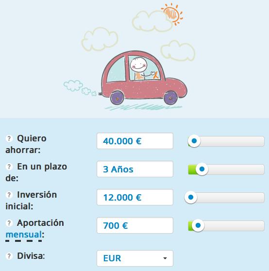 Planificando mi nuevo coche con el Planificador de inversiones de T-Advisor