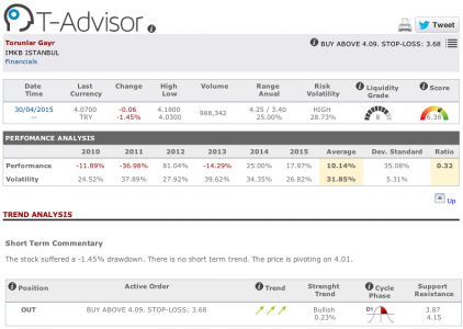 Torunlar Gayr main figures in T-Advisor