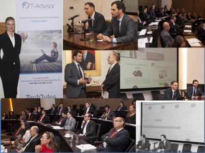 Imágenes de la presentación de T-Advisor en México