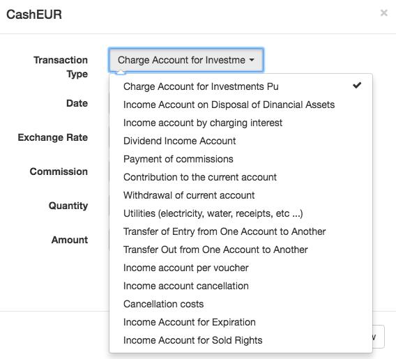 Cash operations in portfolios in T-Advisor